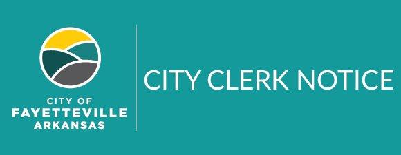 City Clerk Notice
